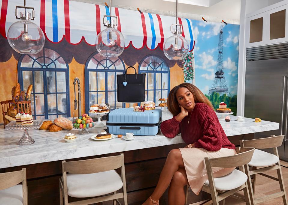 Woman sitting at counter