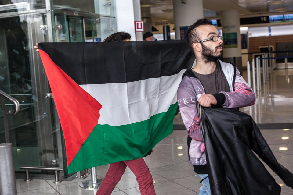 Protest from social group for Leila Khaled