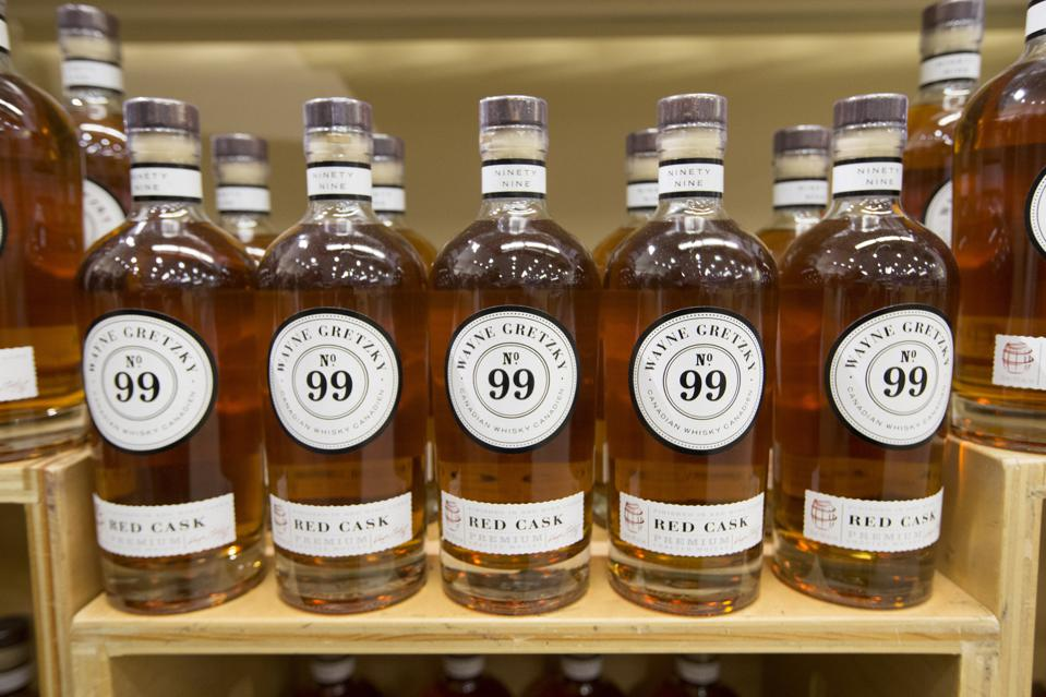 Wayne Gretsky introduces his new whiskey called No. 99.