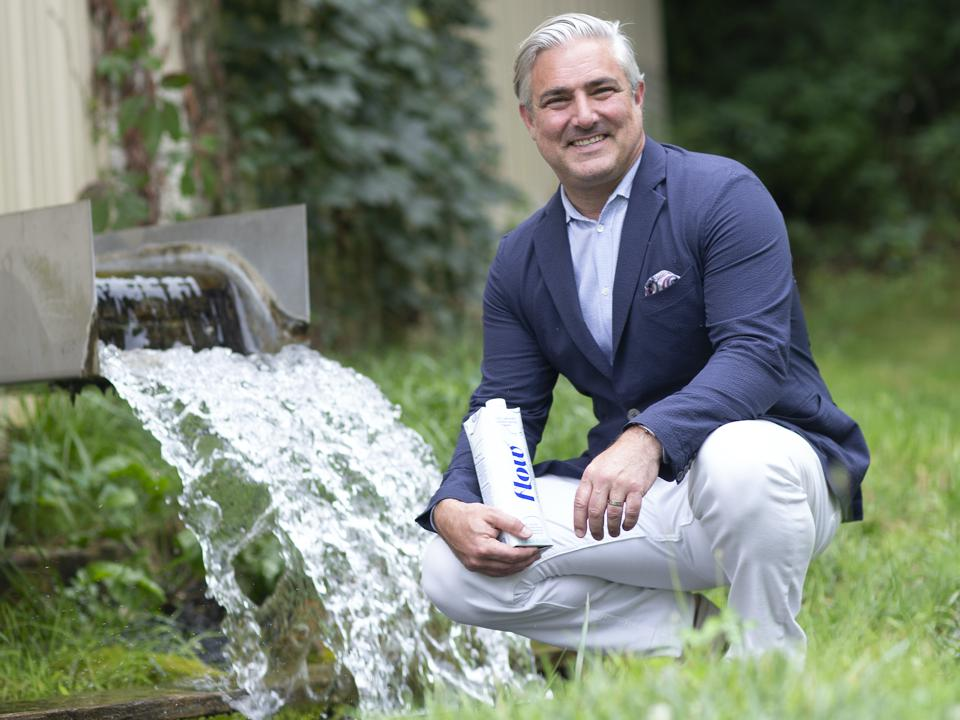 Nicholas Reichenbach, the founder of Flow, purchased his company's second mineral spring in Virginia in 2019.