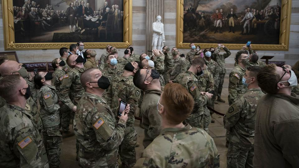 National Guard Stationed at U.S. Capitol