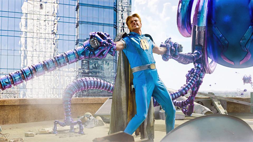 monster superhero blue purple tentacles