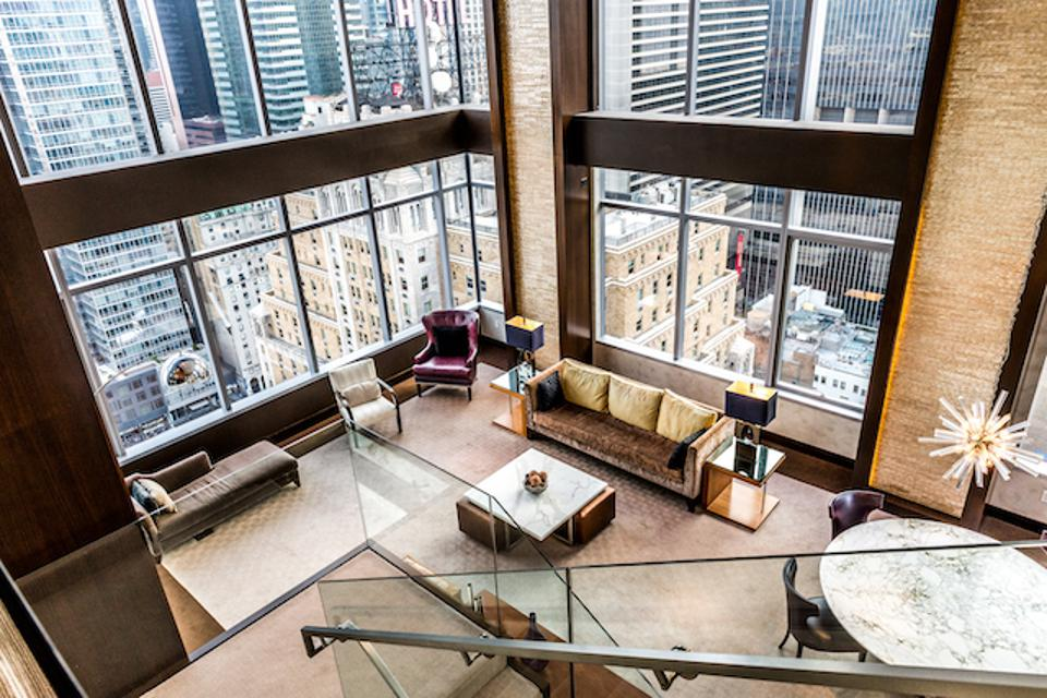 The penthouse suite at the Intercontinental New York Times Square