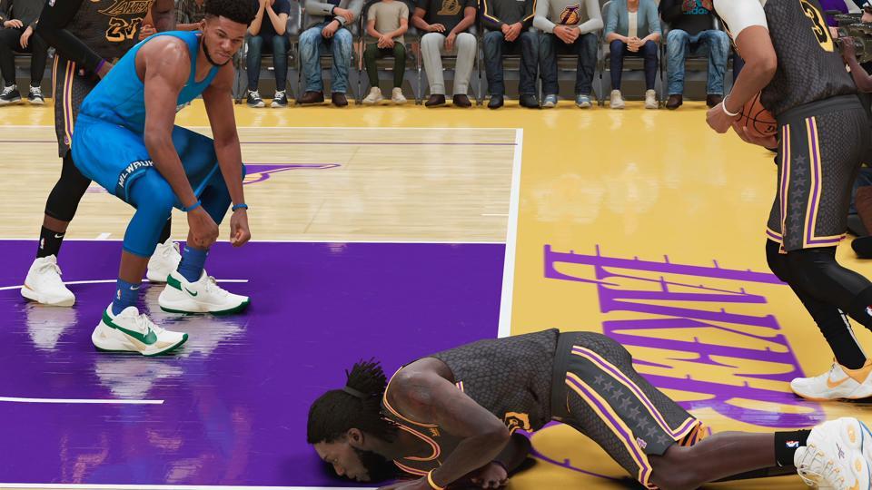 Giannis Antetokounmpo and Montrezl Harrell in NBA 2K21