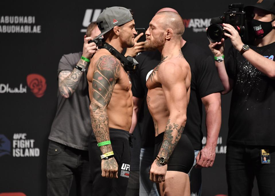 Conor McGregor and Dustin Poirier meet in the main event of tonight's UFC 257 fight card.