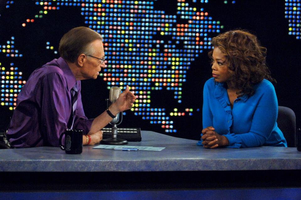 Oprah Winfrey Joins Larry King for His 50th Anniversary in Broadcasting in an Interview That Airs Monday, April 16