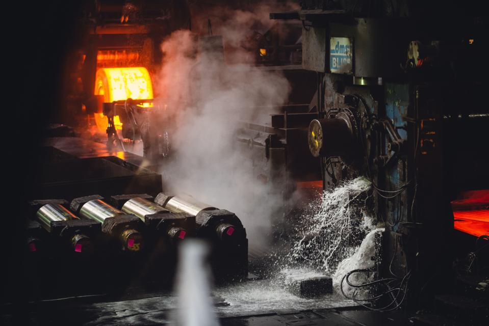 Inside The NLMK Pennsylvania Steel Plant As U.S. Raw Steel Production Rises
