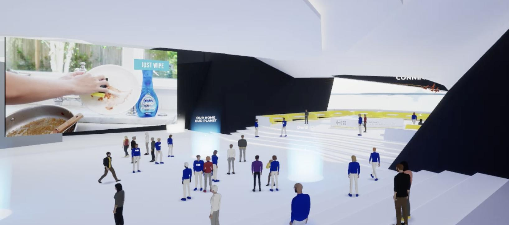 P&G's new virtual LifeLab lets attendees create avatars inside of a game-like experience.