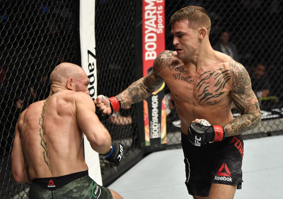Dustin Poirier knocked out Conor McGregor in the main event of UFC 257.