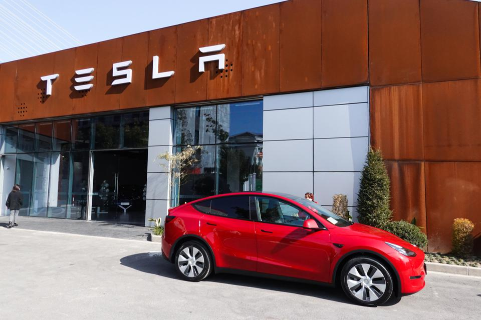 Tesla Delivers China-made Model Y Cars To Customers In Shanghai