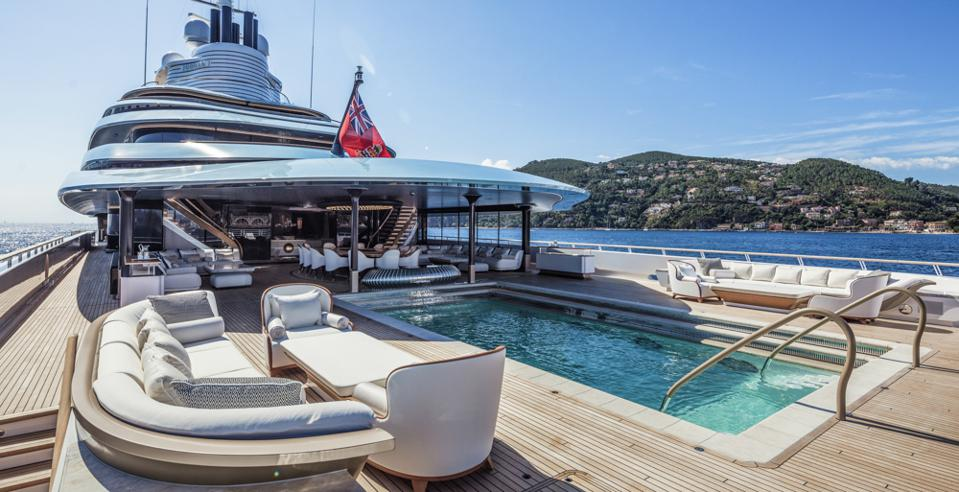 The pool onboard KAOS is a private sanctuary.
