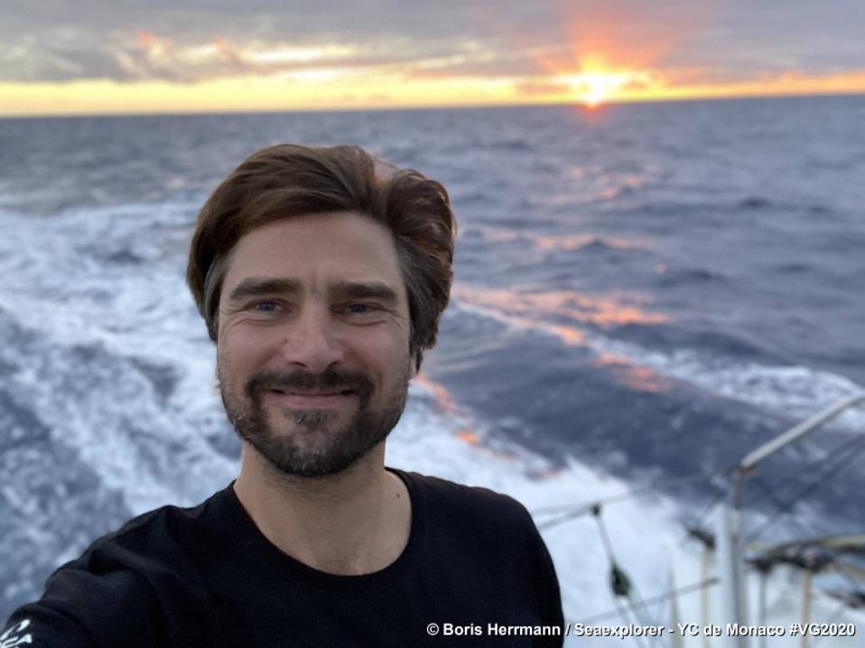 Boris Herrmann on boat Seaexplorer - Yacht Club de Monaco