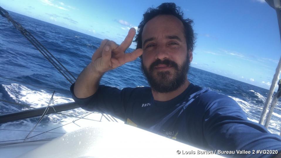 Skipper Burton on the boat Bureau Vallee 2