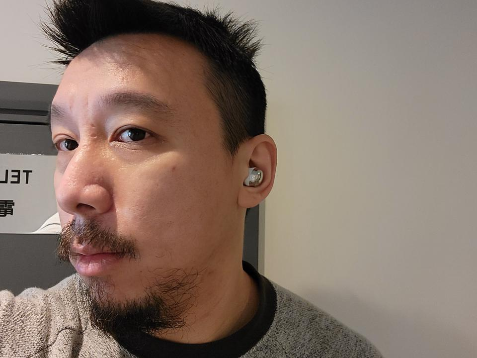 The Galaxy Buds Pro in my ear