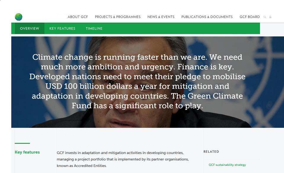 Green Climate Fund website