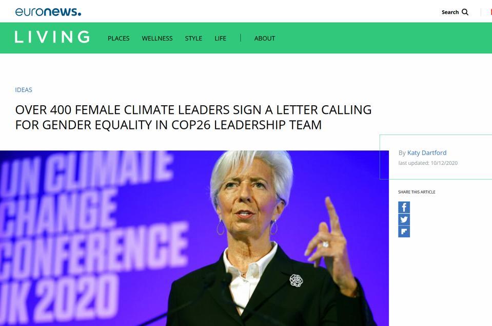 EuroNews on women seeking equity at COP 26