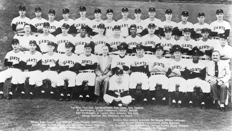 New York Giants 1954 Team Photo