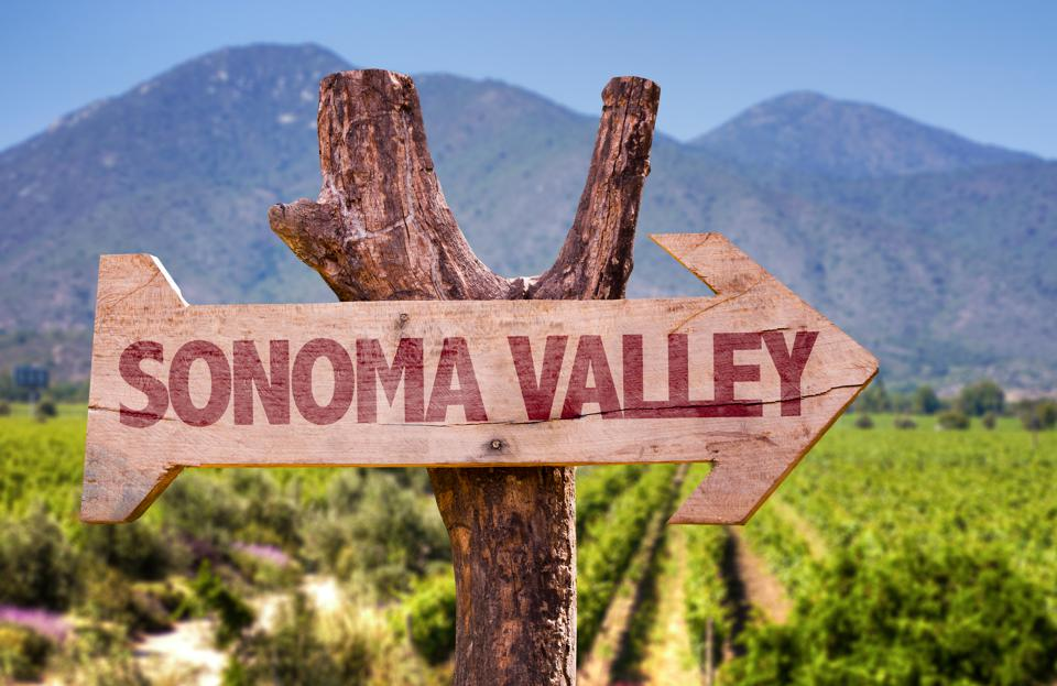 Sonoma Valley direction sign
