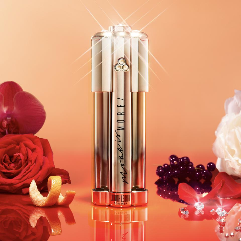 Judith Leiber More is More, the first-to-market customizable fragrance.