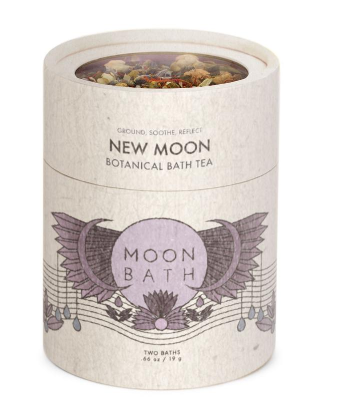 Clear energy and create space to tune into yourself with Moon Bath's relaunched New Moon Bath Tea for the ultimate bathing experience.