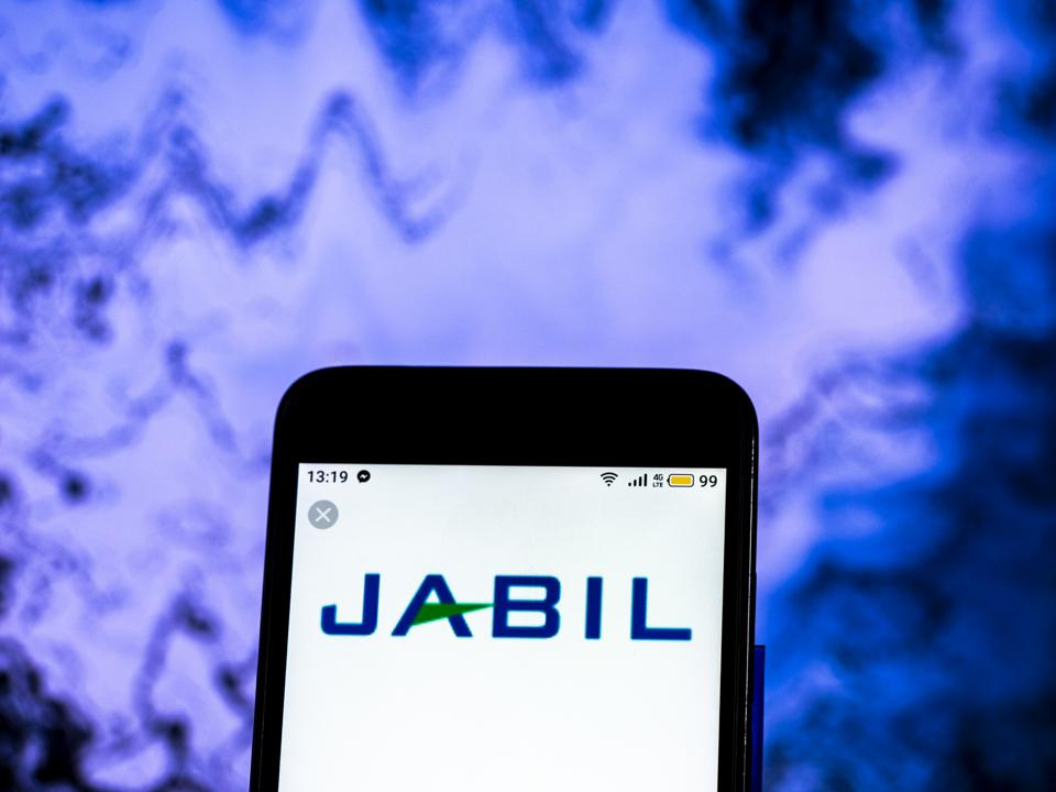 Jabil Company logo seen displayed on a smart phone