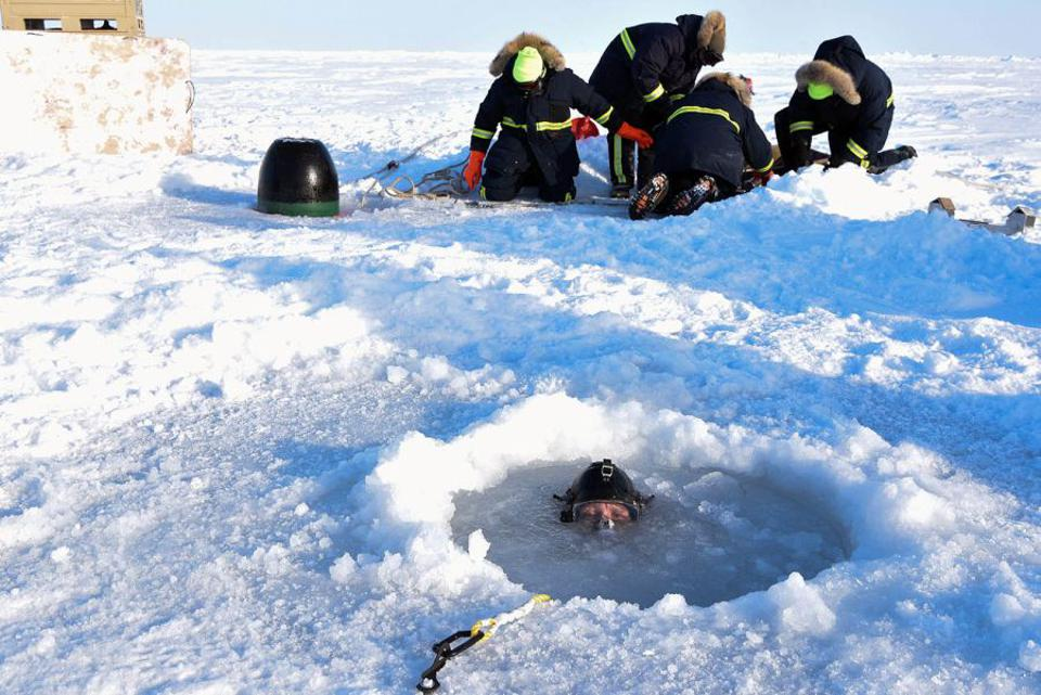 Fiver in ice hole