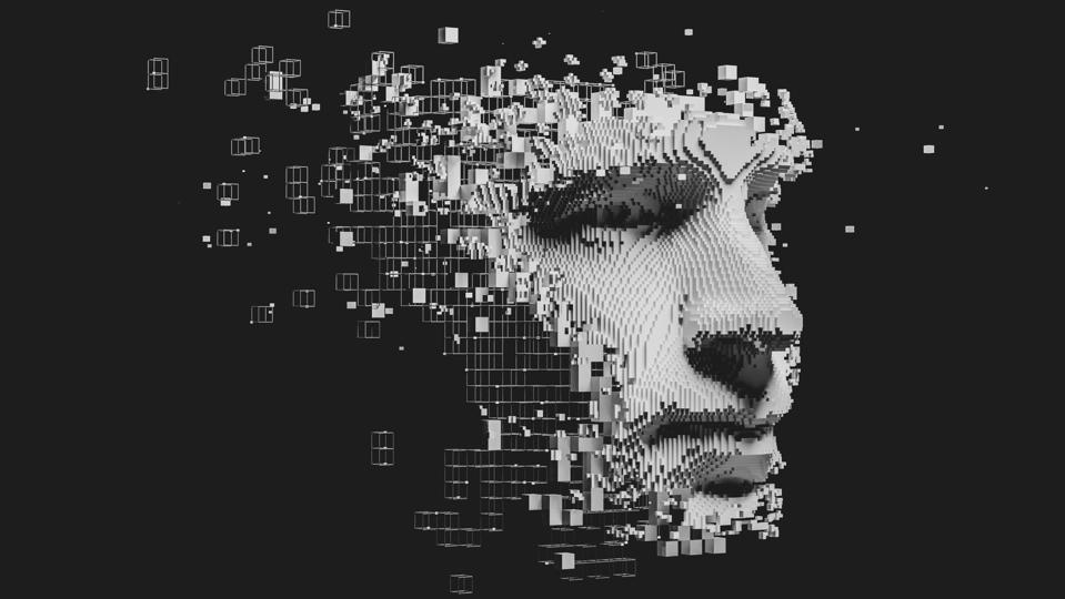 Abstract digital human face