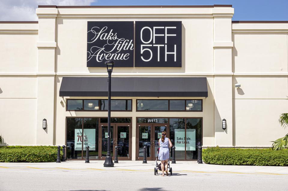 Florida, West Palm Beach, Palm Beach Outlet mall, Saks Fifth Avenue Off 5th entrance