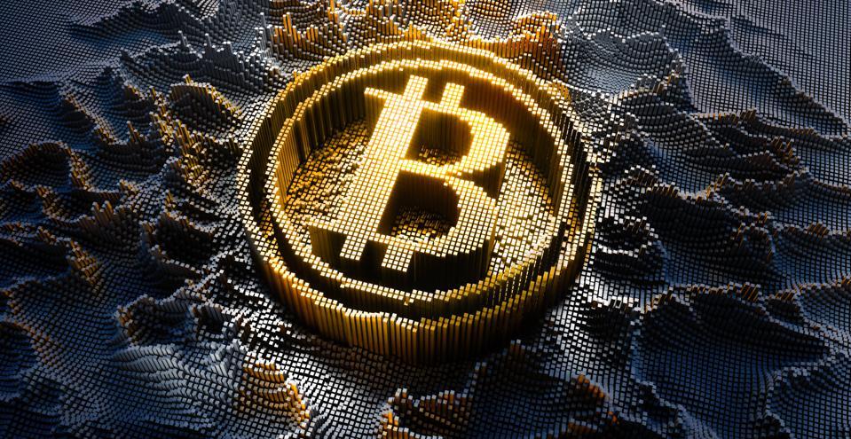 Digitized Bitcoin Symbol