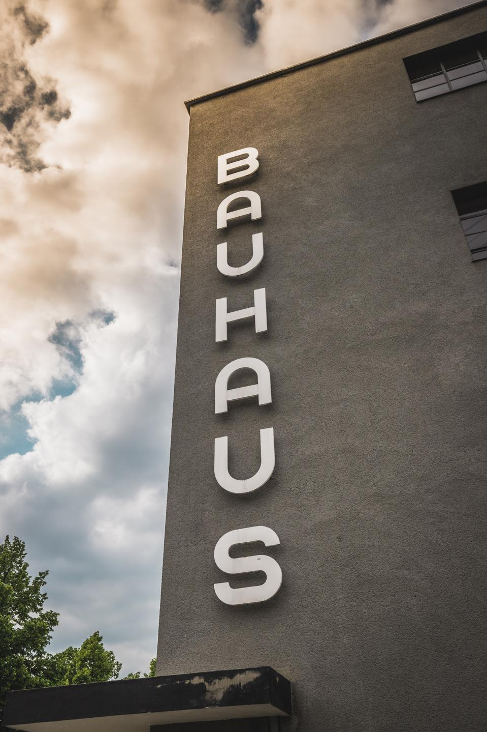 The Bauhaus art school iconic building designed by architect Walter Gropius in 1925