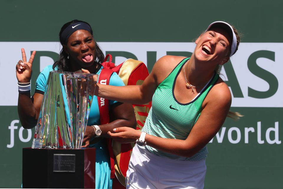 Victoria Azarenka with Serena William @ Indian Wells