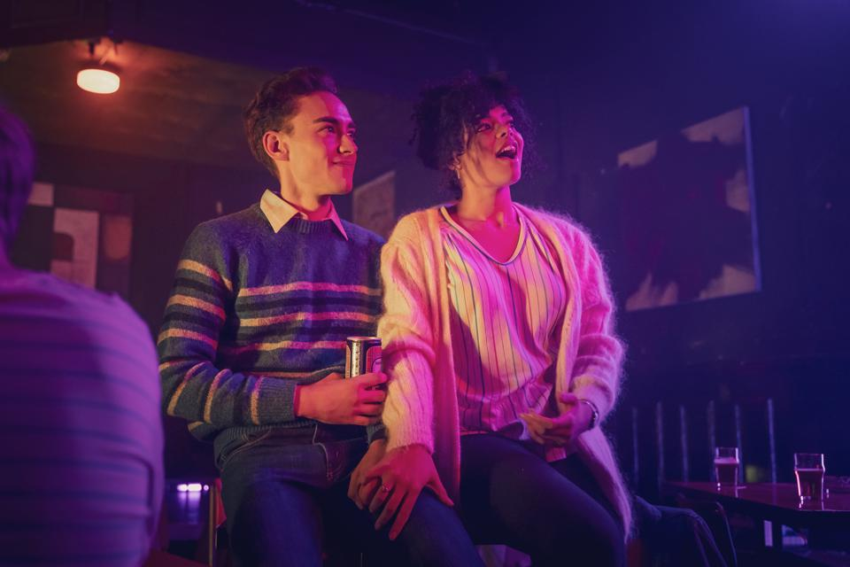 Olly Alexander and Lydia West in Channel Four's 'It's A Sin'