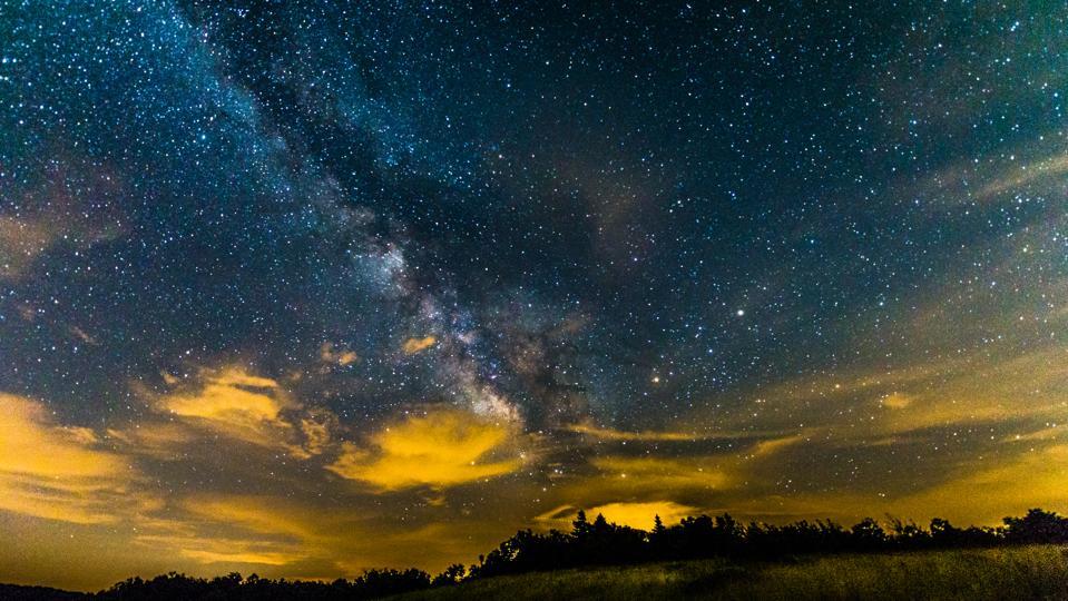 The Summer Milky Way From Shenandoah National Park, Virginia