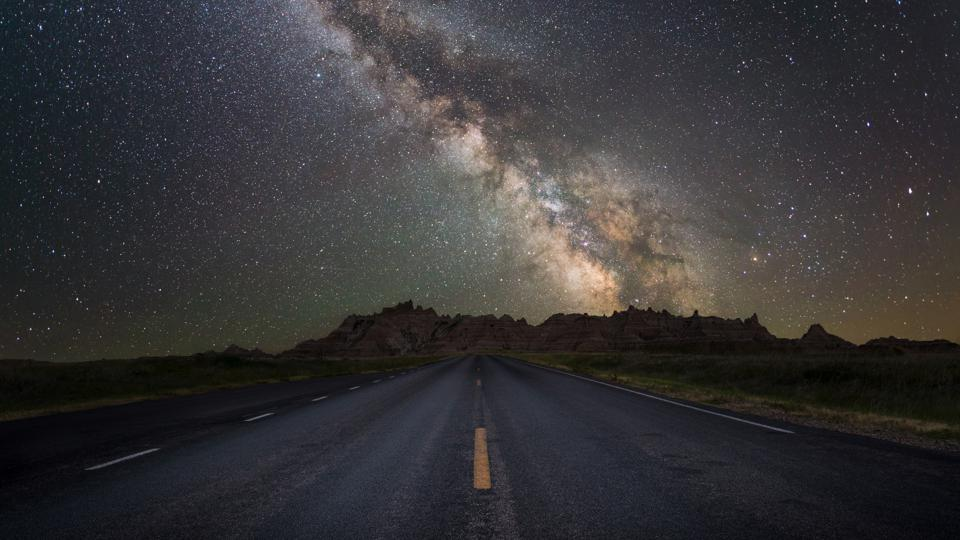 Road leading to the Milky Way Galaxy