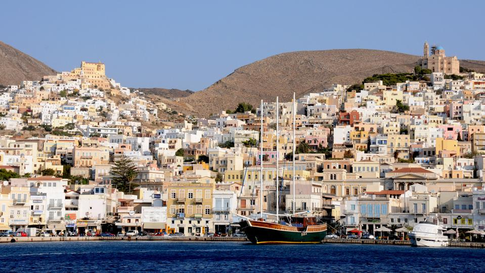 Ermoupoli, the capital of Syros, Greece