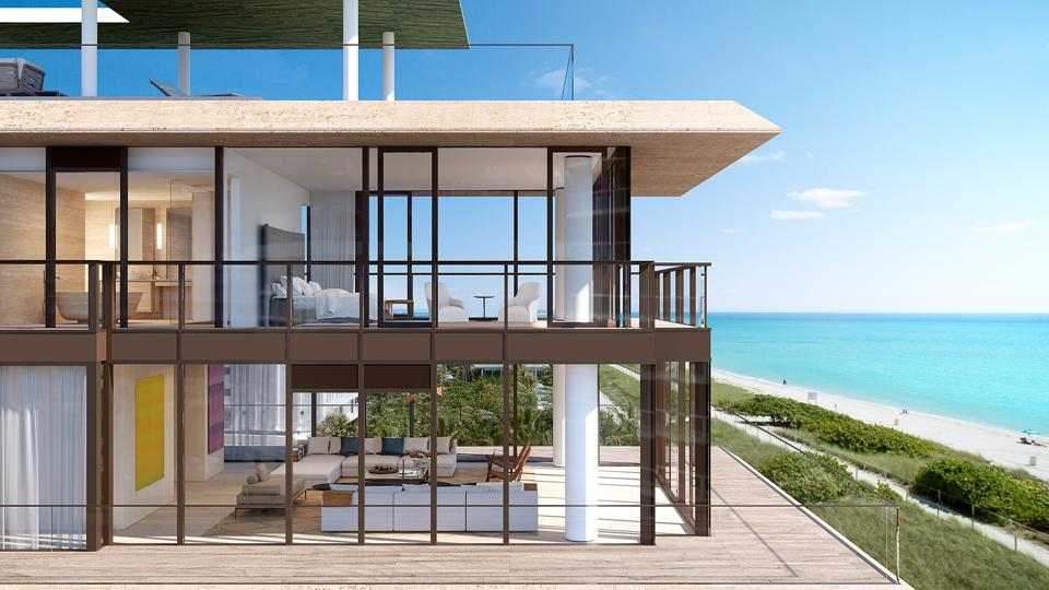 Exterior penthouse at the Arte Surfside