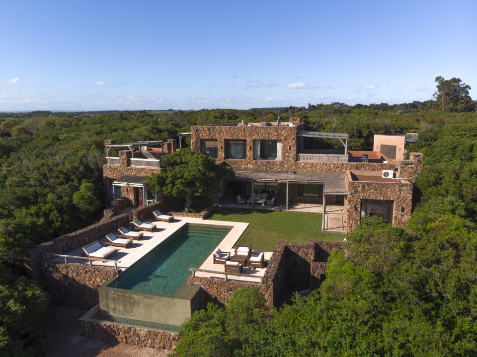 aeriel view of one of kind villa home in jose ignacio maldonado uruguay