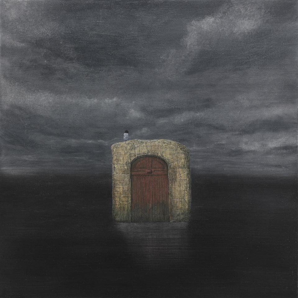Shiori Eda, Erosion, 2020, oil on canvas, 60 x 60 cm