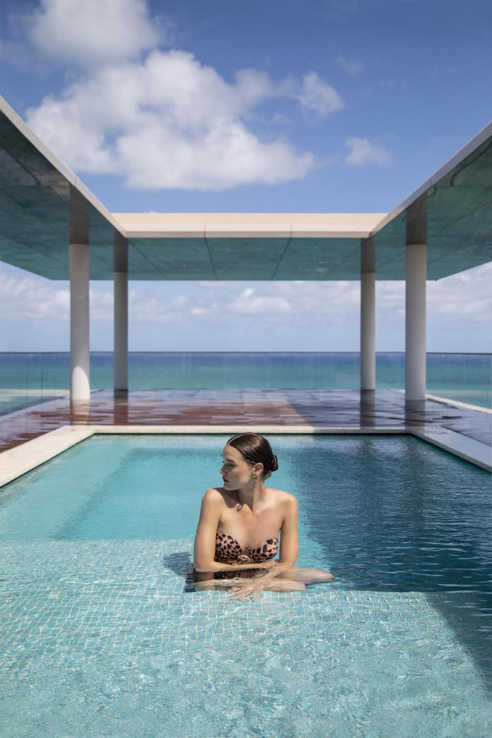 Penthouse swimming pool at Arte Surfside