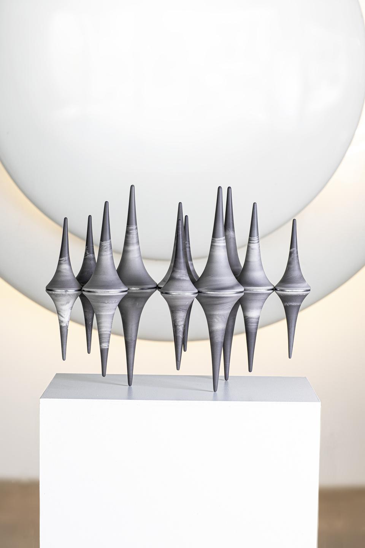 Nadège Mouyssinat, Sculpture Landscape, 2020, porcelain and steel, 40 x 48 x 25 cm, unique piece
