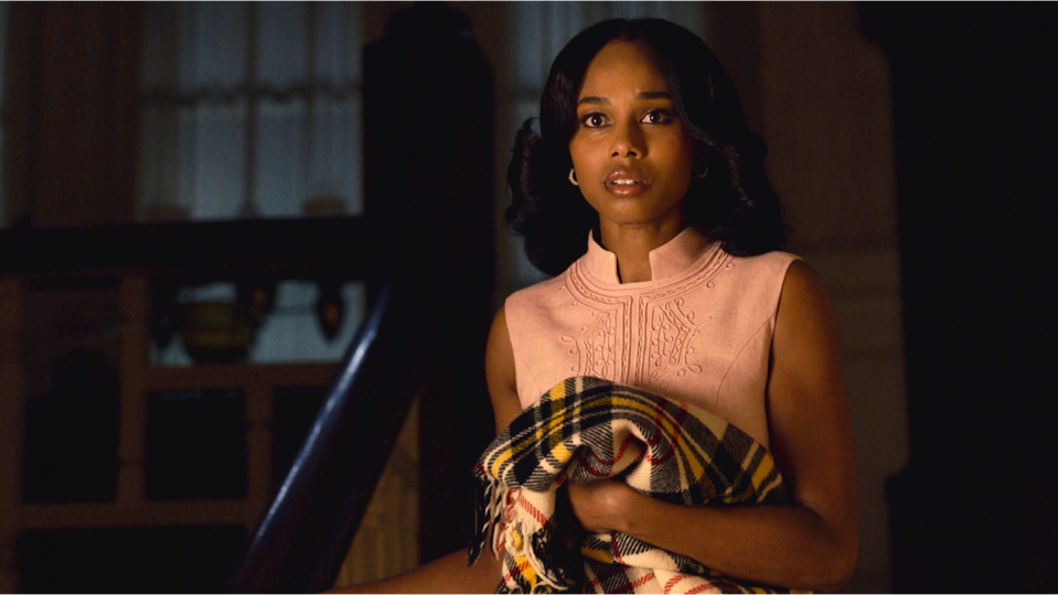 Actress Jennifer C. Holmes during a scene on the NBC show 'This Is Us'