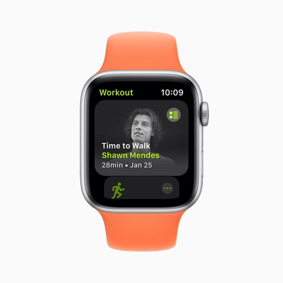 Apple's new Time To Walk feature is a walking podcast show that is part of Apple Fitness+