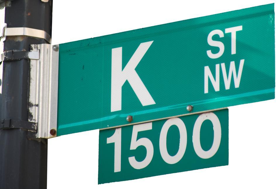 Isolated K Street - Street Sign
