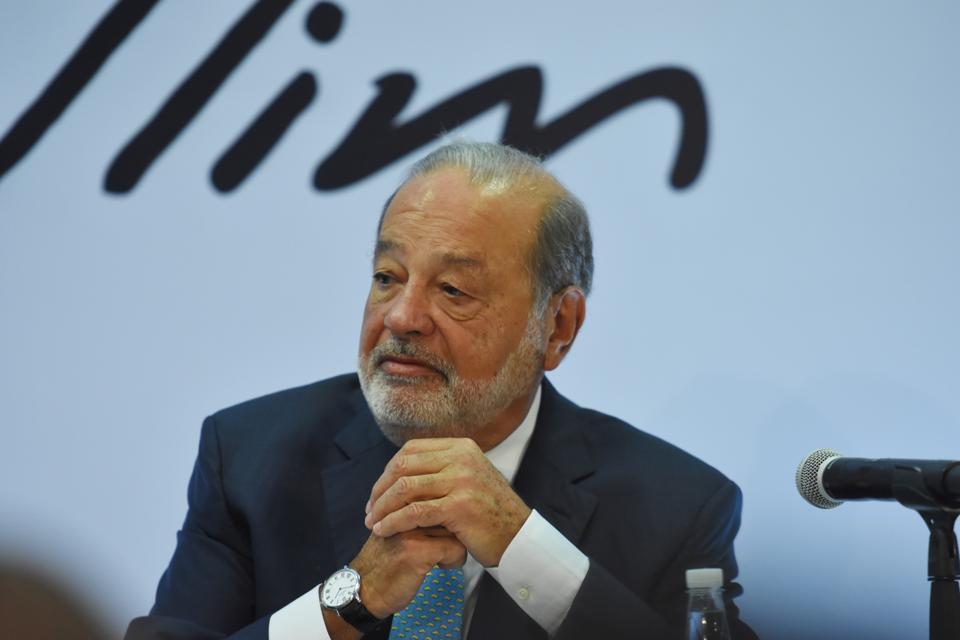 America Movil SAB Chairman Emeritus Carlos Slim Holds Press Conference
