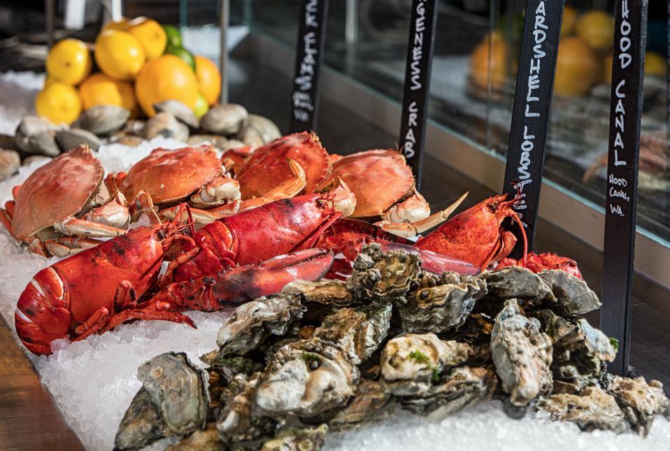 Fresh shellfish.