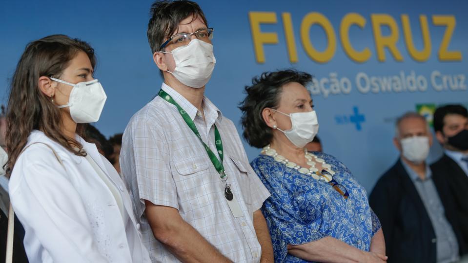 Oxford/AstraZeneca Vaccine Against the Coronavirus (COVID - 19) Arrives at Fiocruz