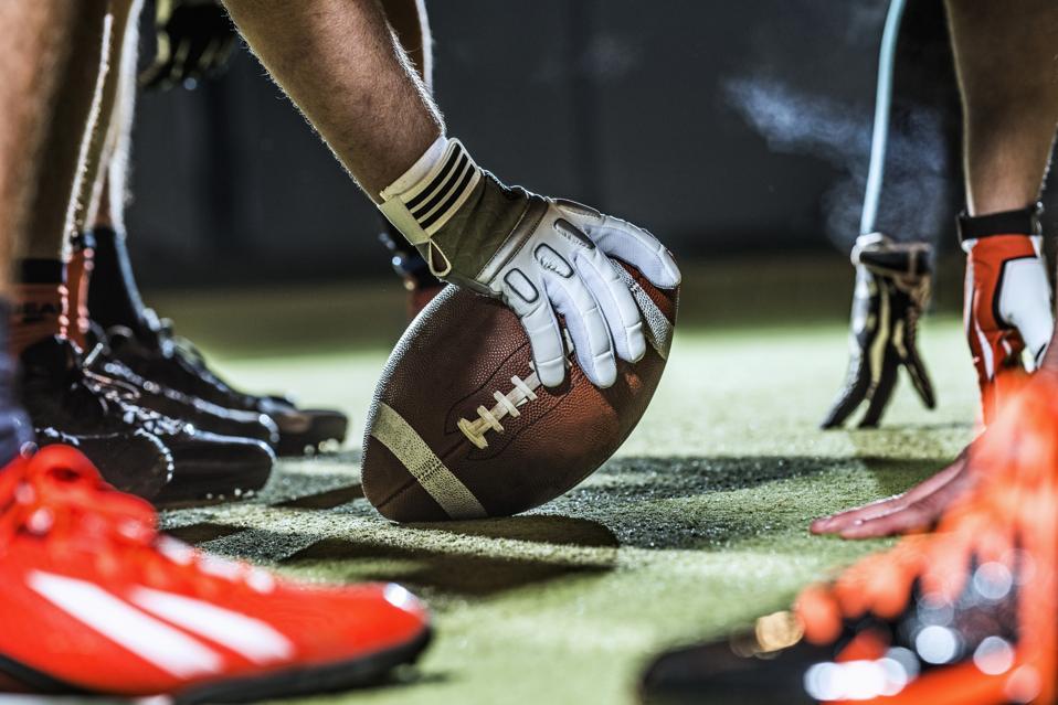 American football, close up