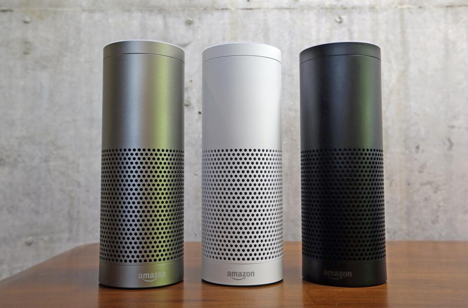 Three Amazon Echo Devices