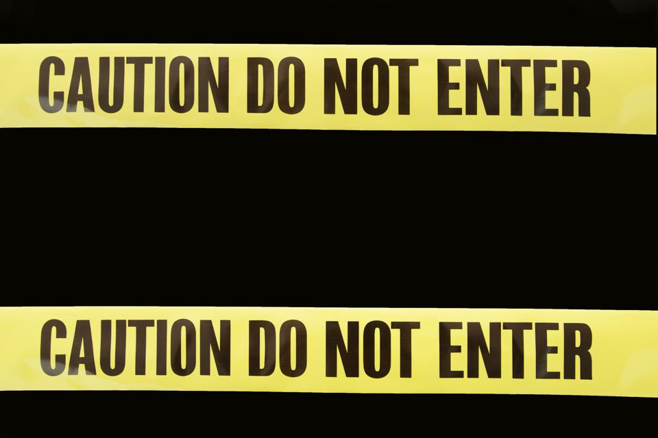 Caution Do Not Enter Tape