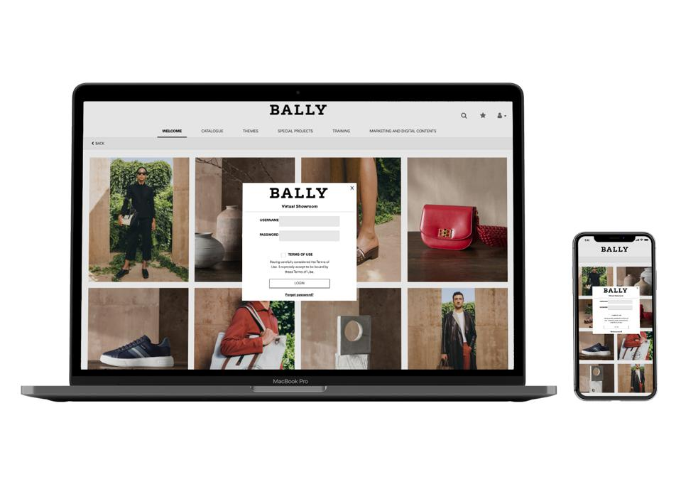 The Bally virtual showroom technology